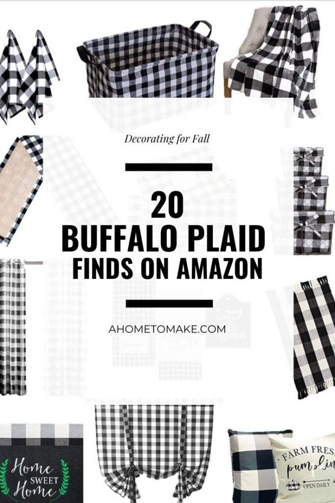 Buffalo Plaid Decor Finds on Amazon @ AHomeToMake.com