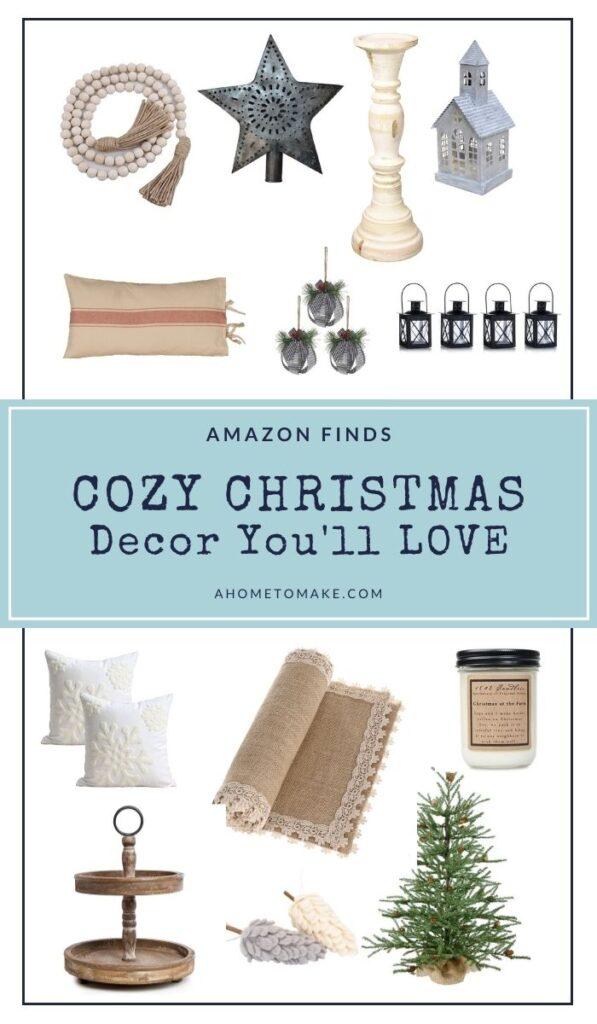 Cozy Christmas Decor Finds on Amazon @ AHomeToMake.com