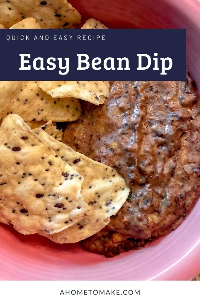 Easy Bean Dip @ AHomeToMake.com
